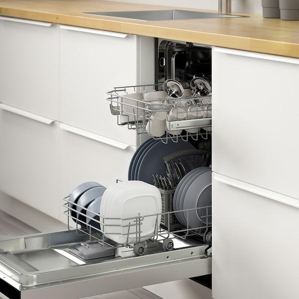 VILLKORLIG Lave-vaisselle encastrable, acier inox