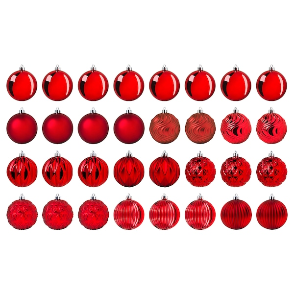 """VINTER 2020 Décoration boule, rouge, 3 ¼ """""""