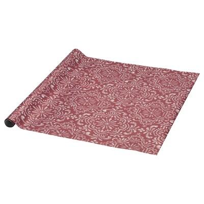 VINTER 2020 Papier d'emballage, motif médaillon rouge, 9.84x2.30 '
