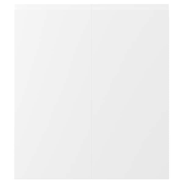 "VOXTORP Porte arm inf angle 2p, droite blanc mat, 13x30 """