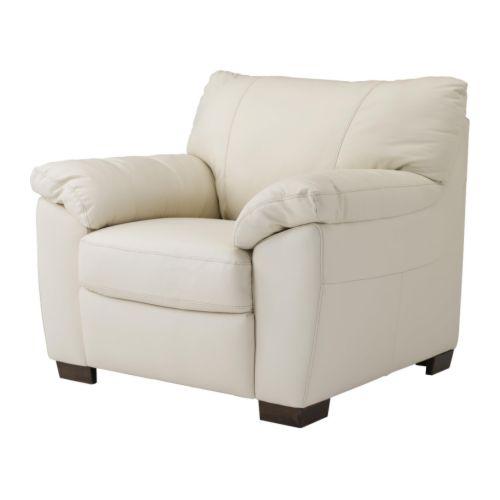 Vreta fauteuil mjuk ivoire ikea - Fauteuil cuir noir ikea ...