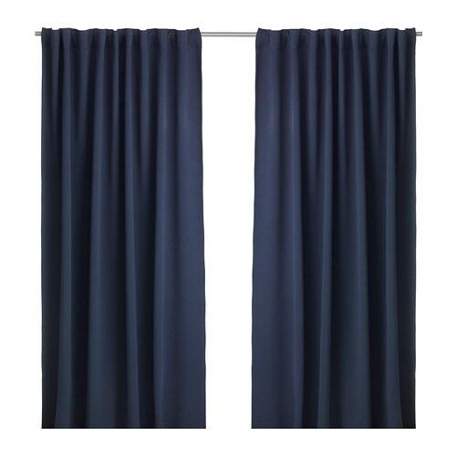 werna rideaux opaques 2 panneaux ikea. Black Bedroom Furniture Sets. Home Design Ideas