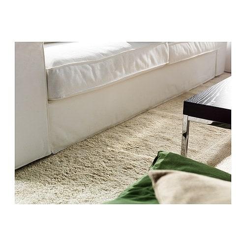 Dum teppich langflor 133x195 cm ikea beige wei ikea