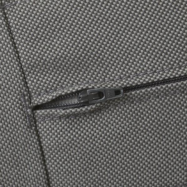 ÄPPLARÖ Modulecksofa 3-sitzig/außen, braun las./Frösön/Duvholmen dunkelgrau, 143/223x80x84 cm