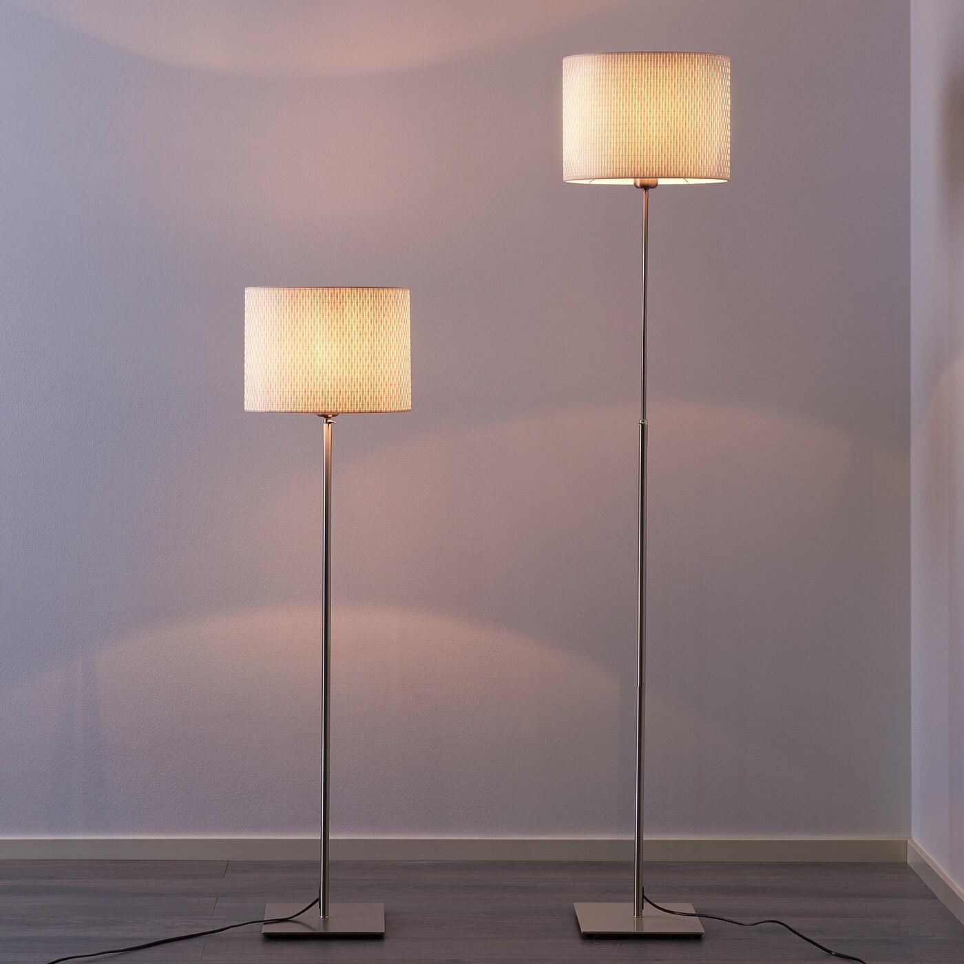 IKEA ALÄNG Standleuchte in weiß; vernickelt Stehleuchte Stehlampe Beleuchtung