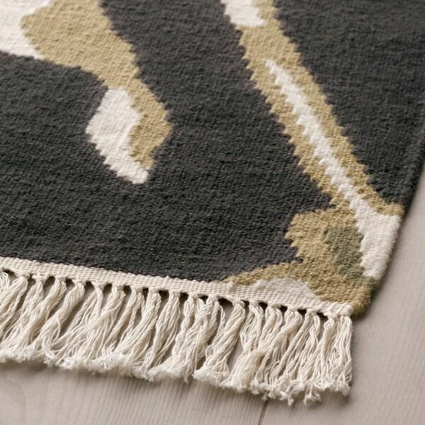 ÅLANDSROT Teppich flach gewebt, schwarz/Handarbeit, 133x195 cm