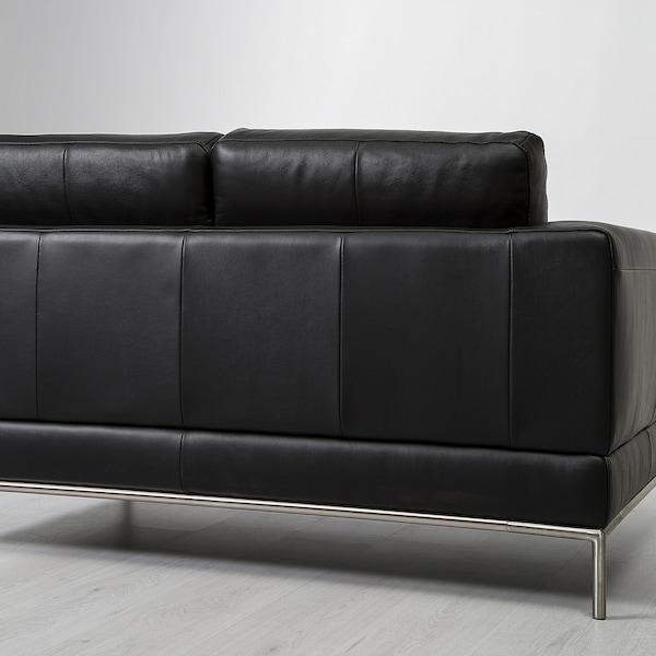 Arild 2er Sofa Mit Recamiere Rechts Grann Schwarz Ikea Schweiz