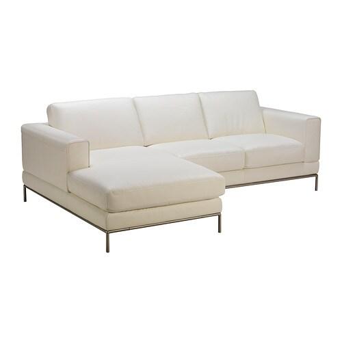 Arild 2er Sofa Mit Récamiere Links Grann Weiß Ikea