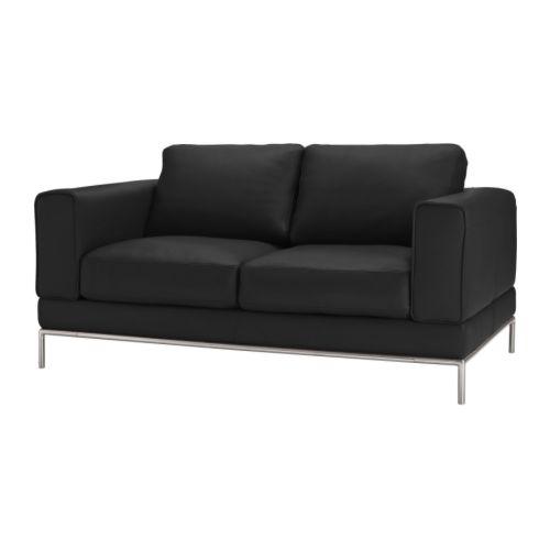Arild 2er Sofa Grann Schwarz Ikea