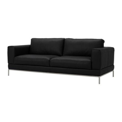 Arild 3er Sofa Grann Schwarz Ikea