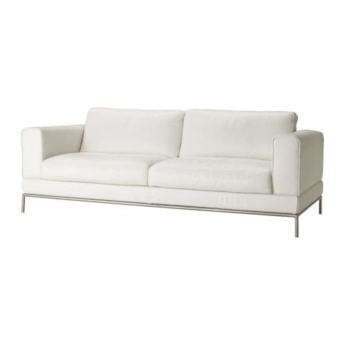 Arild 3er Sofa Grann Weiß Ikea