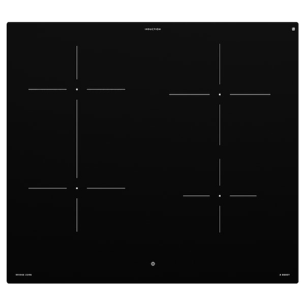 BEJUBLAD Induktionskochfeld, IKEA 500 schwarz, 58 cm