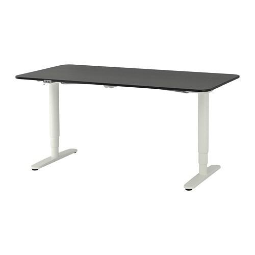 Bekant Schreibtisch Sitzsteh Weiß Ikea