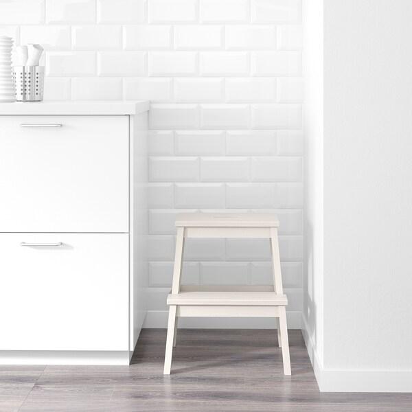 BEKVÄM Tritthocker, weiß, 50 cm