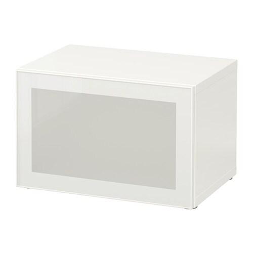 bestÅ regal mit glastür - weiß/glassvik weiß/frostglas - ikea