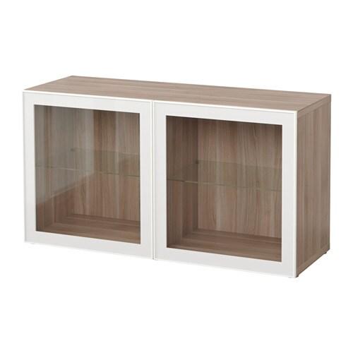 best regal mit glast ren grau las nussbaumnachb glassvik wei klarglas ikea. Black Bedroom Furniture Sets. Home Design Ideas