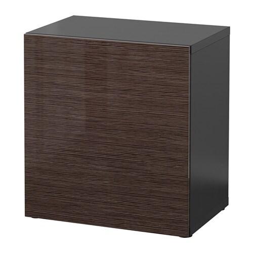 Kleiderschrank Ikea Begehbar ~ BESTÅ Regal mit Tür  schwarzbraun Selsviken Hochglanz braun  IKEA