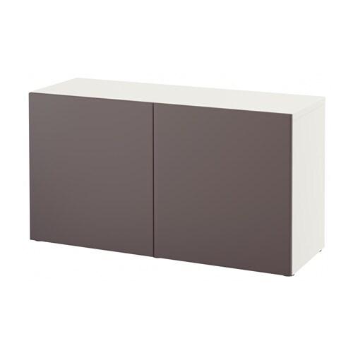 Ikea Besta Regal Mit T?ren : BEST? Regal mit T?ren  wei?Valviken dunkelbraun  IKEA