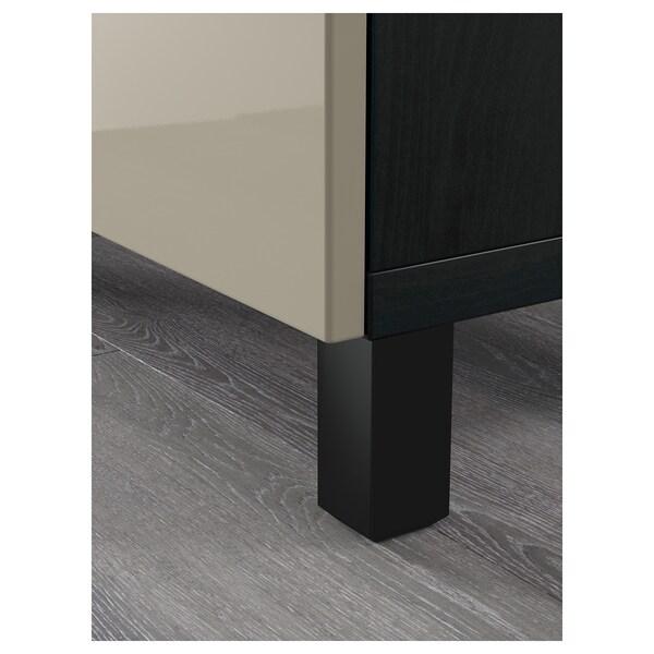 BESTÅ Aufbewahrung mit Schubladen schwarzbraun/Selsviken Hochglanz beige 180 cm 40 cm 74 cm