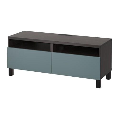 best tv bank mit schubladen schwarzbraun valviken. Black Bedroom Furniture Sets. Home Design Ideas