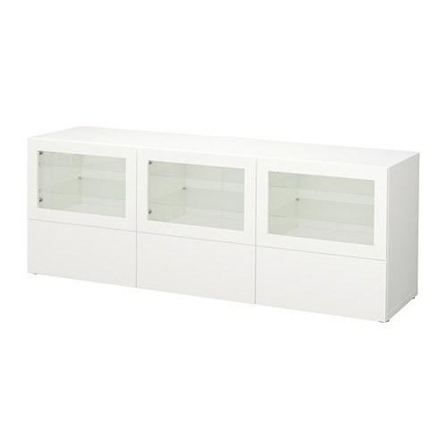 best tv bank mit t ren und schubladen lappviken sindvik klarglas wei schubladenschiene. Black Bedroom Furniture Sets. Home Design Ideas