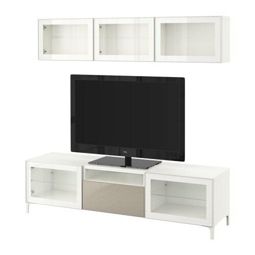 Pax Kleiderschrank Ikea Heerlen ~  Selsviken Hochgl beige Klargl, Schubladenschiene, Drucksystem  IKEA