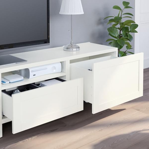 Besta Tv Mobel Kombination Weiss Hanviken Stubbarp Weiss Ikea Schweiz