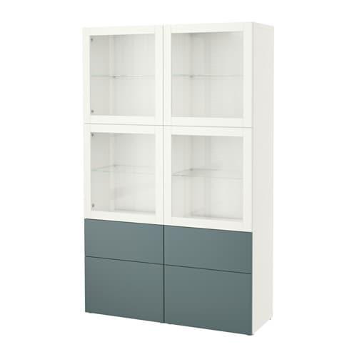 best vitrine wei valviken klargl gra t rk schubladenschiene drucksystem ikea. Black Bedroom Furniture Sets. Home Design Ideas