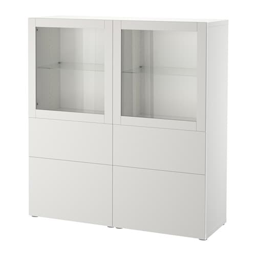 best vitrine wei lappviken klarglas h 39 grau schubladenschiene sanft schlie end ikea. Black Bedroom Furniture Sets. Home Design Ideas