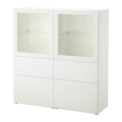best vitrine wei vassviken klarglas wei. Black Bedroom Furniture Sets. Home Design Ideas