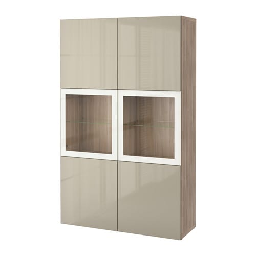 best vitrine grau las nussbaumnachb selsviken hochgl beige klargl ikea. Black Bedroom Furniture Sets. Home Design Ideas