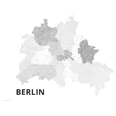 BILD Bild, Kleine Punkte, Berlin, 70x50 cm