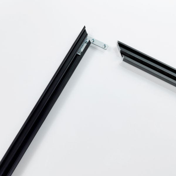 BJÖRKSTA Rahmen, schwarz, 200x140 cm