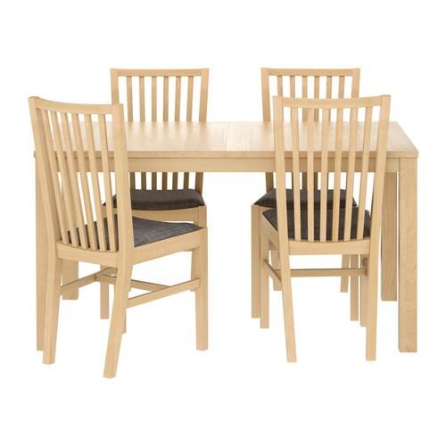 Ikea Fyndig Unterschrank Mit Schubladen ~ BJURSTA  NORRNÄS Tisch und 4 Stühle Ausziehbarer Esstisch mit 2