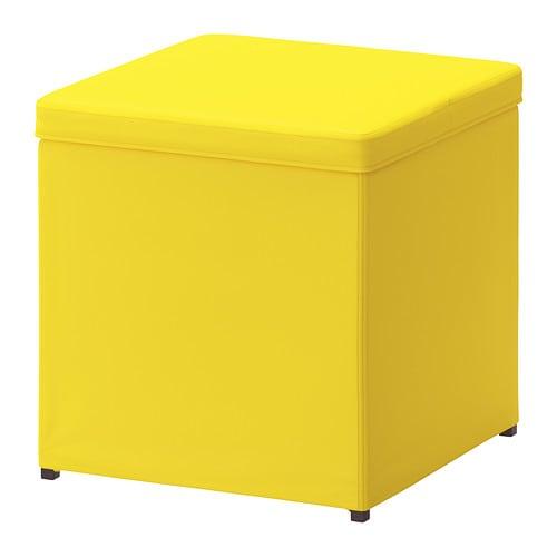 bosn s hocker mit aufbewahrung ransta gelb ikea. Black Bedroom Furniture Sets. Home Design Ideas