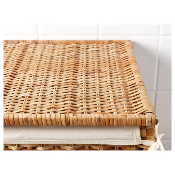BRANÄS Wäschekorb, gefüttert Rattan 41 cm 41 cm 60 cm 80 l