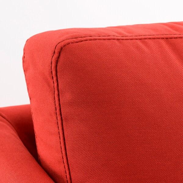 BRÅTHULT 3er-Sofa, Vissle rot/orange