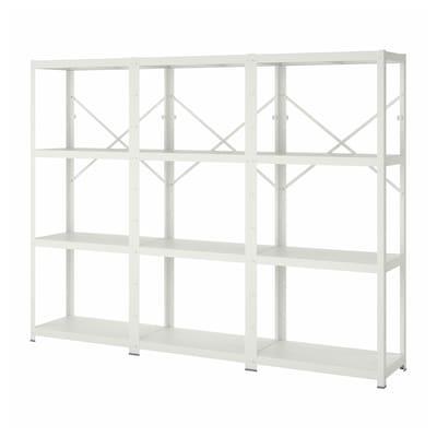 BROR 3 Elem/Böden, weiß, 254x40x190 cm