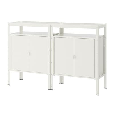 BROR Regal mit Schrank, weiß, 170x40x110 cm