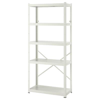 BROR Regal, weiß, 85x40x190 cm