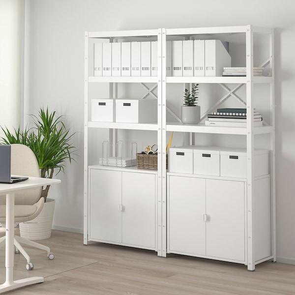 BROR Regal mit Schrank - weiß - IKEA Schweiz
