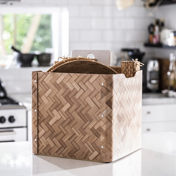 BULLIG Box, Bambus/braun, 32x35x33 cm