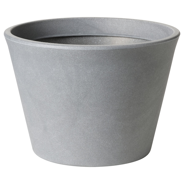 CITRUSKRYDDA Übertopf, drinnen/draußen grau, 35 cm
