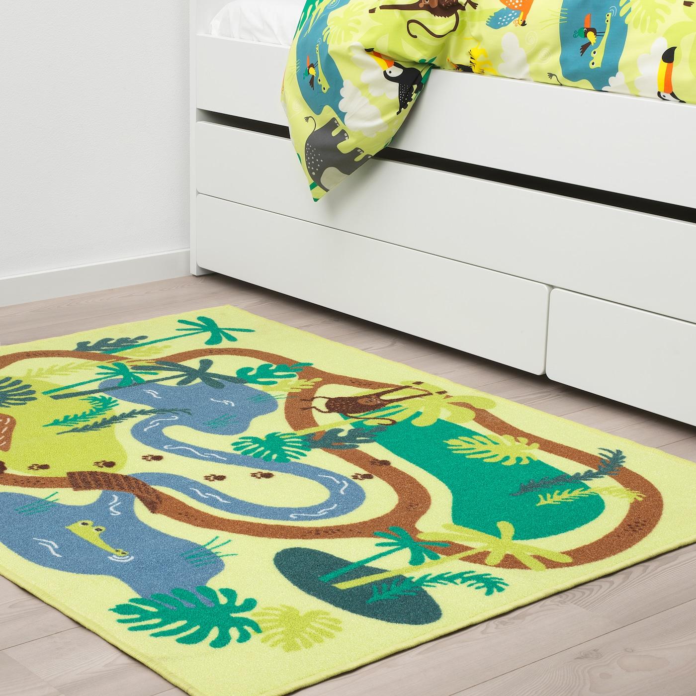 DJUNGELSKOG Teppich Kurzflor Dschungel/Bäume 100 cm 133 cm 1.33 m²