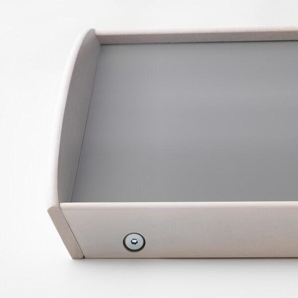 DJURA Tablett weiß las./dunkelgrau 58 cm 38 cm 25 cm