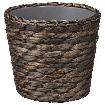 DRUVFLÄDER Übertopf, Wasserhyazinthe/grau, 12 cm