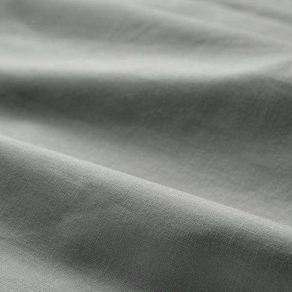 DVALA Spannbettlaken, hellgrau, 140x200 cm