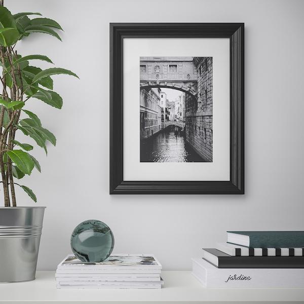 EDSBRUK Rahmen, schwarz lasiert, 30x40 cm