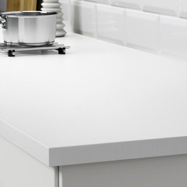 EKBACKEN Maßarbeitsplatte, weiß/Laminat, 45.1-63.5x2.8 cm