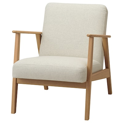 EKENÄSET Sessel, Eiche/Gunnared beige